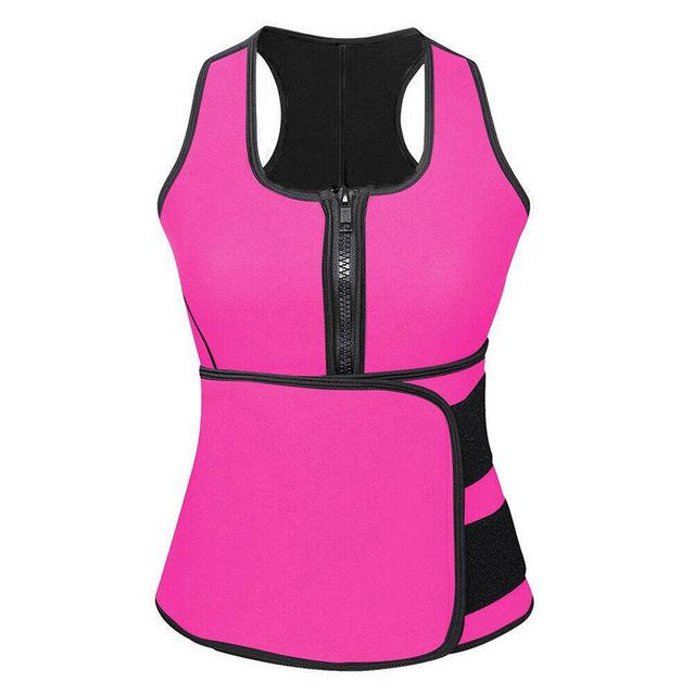 Adjustable Body Shaper Slimming Waist Support Brace Trainer Sauna Suit Top Vest Trimmer Trainer Belt Fitness Shapewear S-4XL 3
