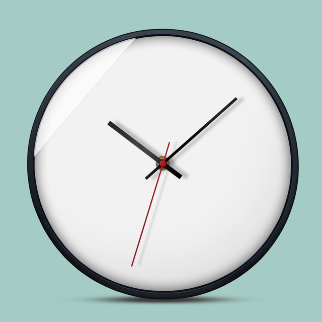 Us 22 37 39 Off 1 Pcs Eropa Minimalis Kreatif Jam Dinding Ruang Tamu Kamar Dihiasi Dengan Logam Clockfeature Sep30 Di Wall Clocks Dari Rumah Taman