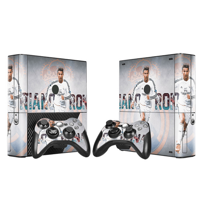 Hot Selling Top Quality Vinyl Skin Sticker for Xbox 360 E Console + 2 Controllers image