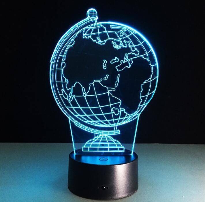 Дропшиппинг 3D светодиодный ночник 3D mpara De Mesa USB Глобусы лампы как домашний светодиодный сенсорный свет для друзей креативных подарки ...