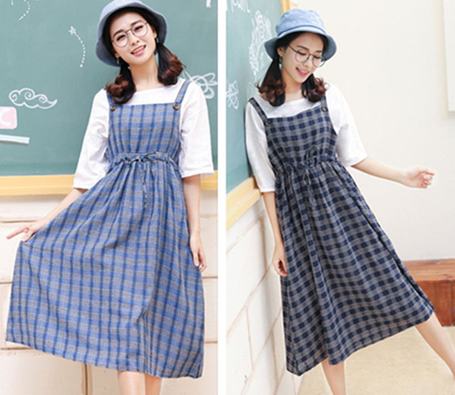Musim Semi Dan Musim Panas Segar Linen Dress Korea Semua