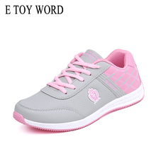 E TOY WORD Women Shoes Designer PU leather Spring Casual 2018 Outdoor Walking Sneakers Lace Up tenis feminino