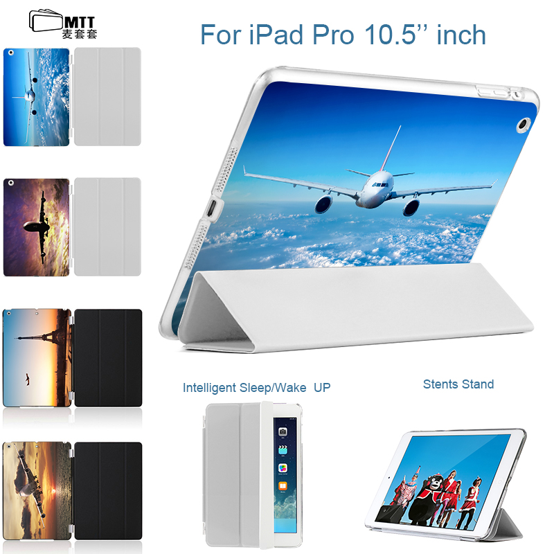 MTT Airplane printing Back Cover For iPad Pro 10.5 Smart Case Tablet Leather Cover For Apple iPad 10.5 Case New fashion Hot sale for ipad mini4 cover high quality soft tpu rubber back case for ipad mini 4 silicone back cover semi transparent case shell skin