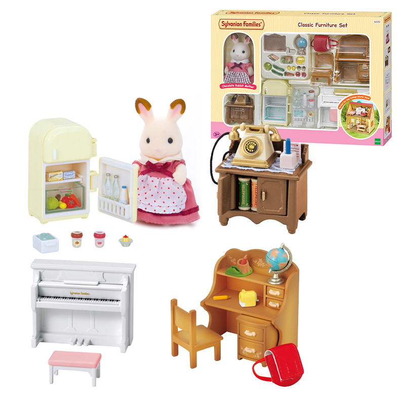 Sylvanian Families Dollhouse Classic Furniture Playset Accessories w Rabbit Figure 5220 New Sealed