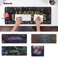 Babaite My Favorite League of legends game Office Mice Gamer Soft Mouse Pad Free Shipping Large Keyboards Mat