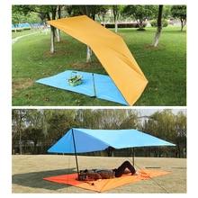 Ultralight Sun Shelter Camping Mat Beach Tent Pergola Awning Canopy 190T Taffeta Tarp Camping Sunshelter