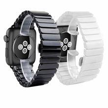Bracelet en céramique pour Apple Watch, 38mm 42mm 40mm 44mm, Bracelet avec maillons en céramique, iWatch série 5 4 3 2 1