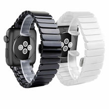 Ceramic Strap for Apple Watch Band 38mm 42mm 40mm 44mm Smart Watch Bracelet Ceramic Links Watchband for iWatch Series 5 4 3 2 1