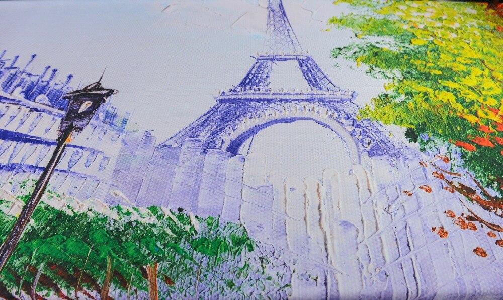 3d moderne parijs toren landschap douchegordijnen waterdicht