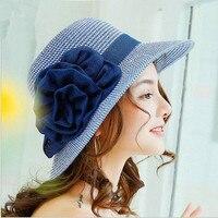 Повседневные однотонные соломенная шляпа большой Брим складной солнца шляпы ручной работы крючком соломенная шляпа пляж Солнцезащитная ш...