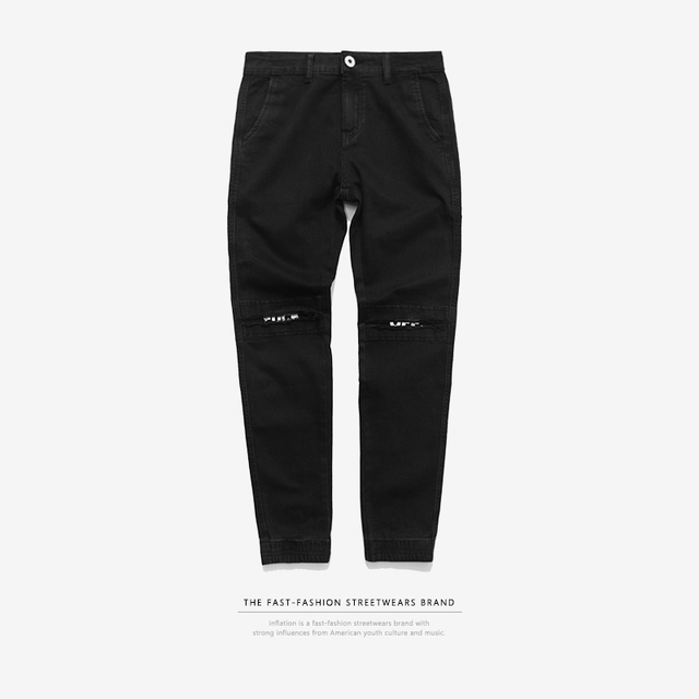 INFLATION New Ripped Frayed Pants For Men Skinny Destroyed Famous Hip Hop Black Men Joggers Pants Casual High Street Pant 233W16 3