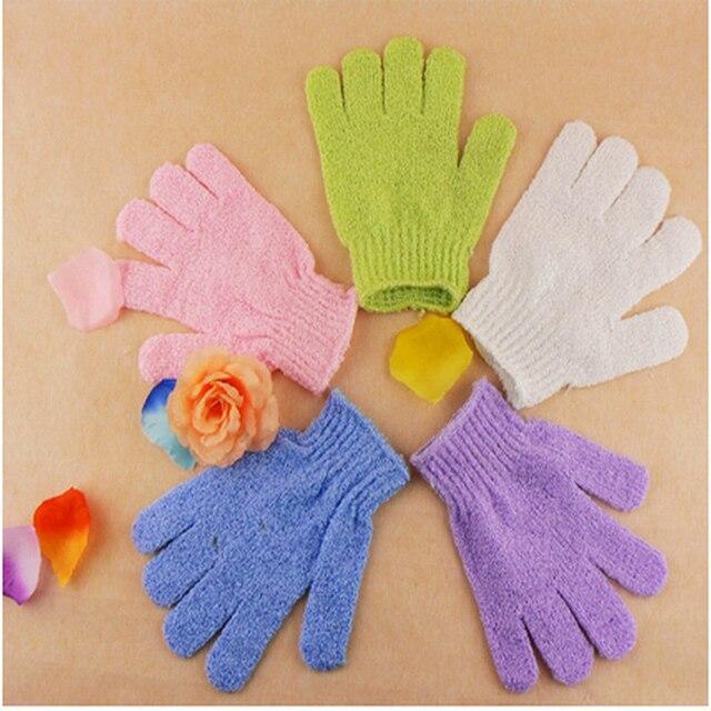 2Pcs Bath Scrub Glove For Bath Exfoliating Bath Shower Gloves Body Scrubber  Loofah Massage Brush Bath