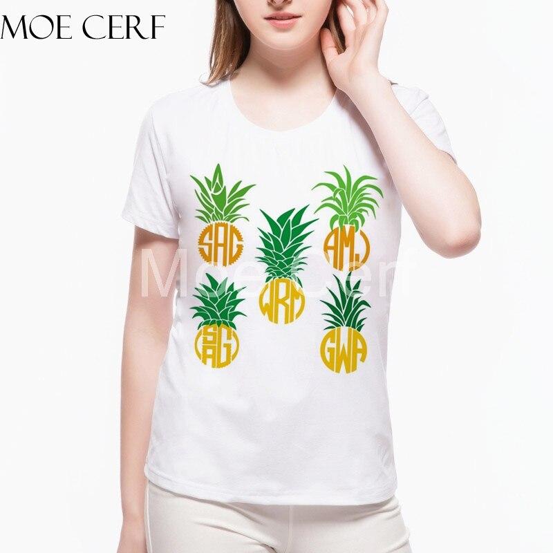 So Many Pineapple T Shirt New Fashion Summer Harajuku Short Sleeve Women Tops Sweet 3D Print Tops Camisas Drop Shipping L4-C-32