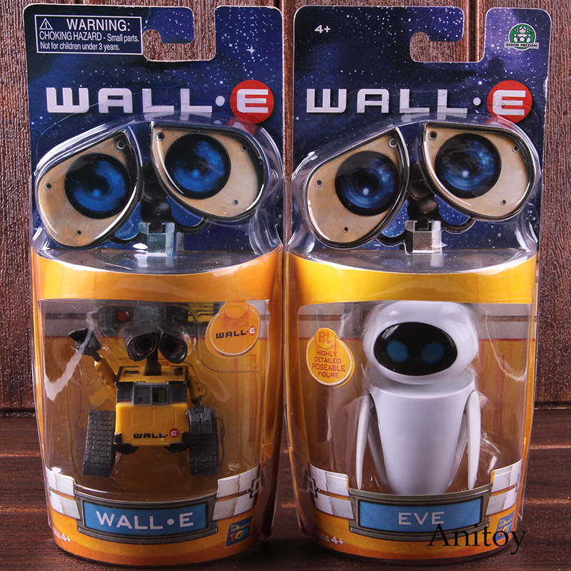2018 New arrival Wall-E Robot Wall E /& EVE PVC Action Figure Collection Model