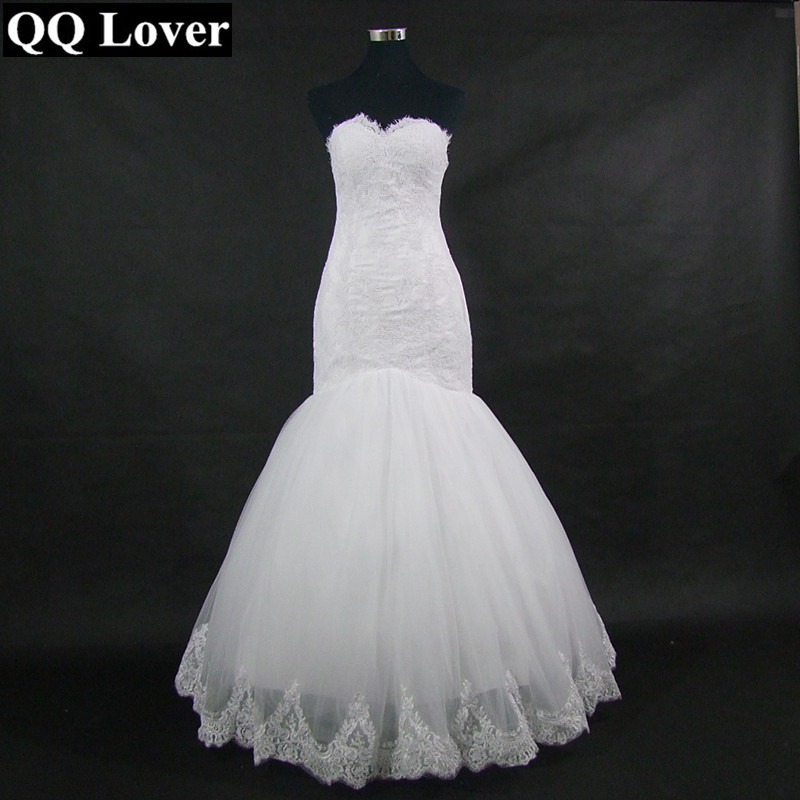 QQ Lover New Arrival High/Low Mermaid Wedding Dress 2019