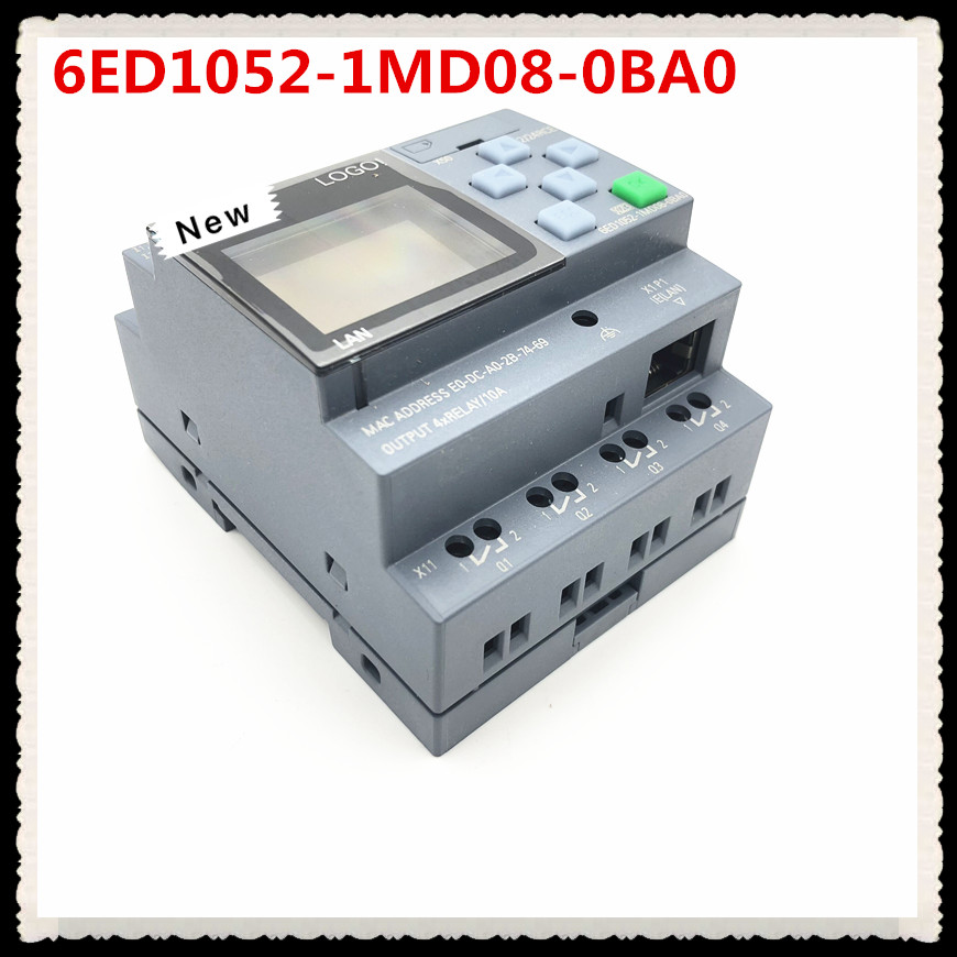 Image 2 - New Original 6ED1052 1MD08 0BA0  LOGO 12/24RCE PLC With Display Module 12/24V DC/RELAY 8 DI 4AI 6ED1 052 1MD08 0BA0 PLC-in Chargers from Consumer Electronics