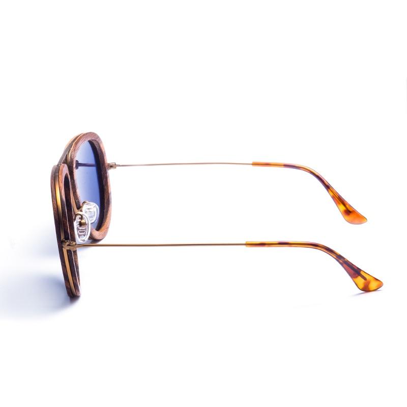 Hohe Strahlung Gold Form Schutz Frauen Sonnenbrille Polarisierte Qualität Runde Für Holz UOURqr4xw