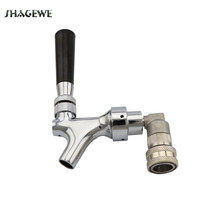 Polished Chrome Draft Beer Faucet with Stainless Steel ball lock Liquid Disconnect Kit for HomeBrew KegTap