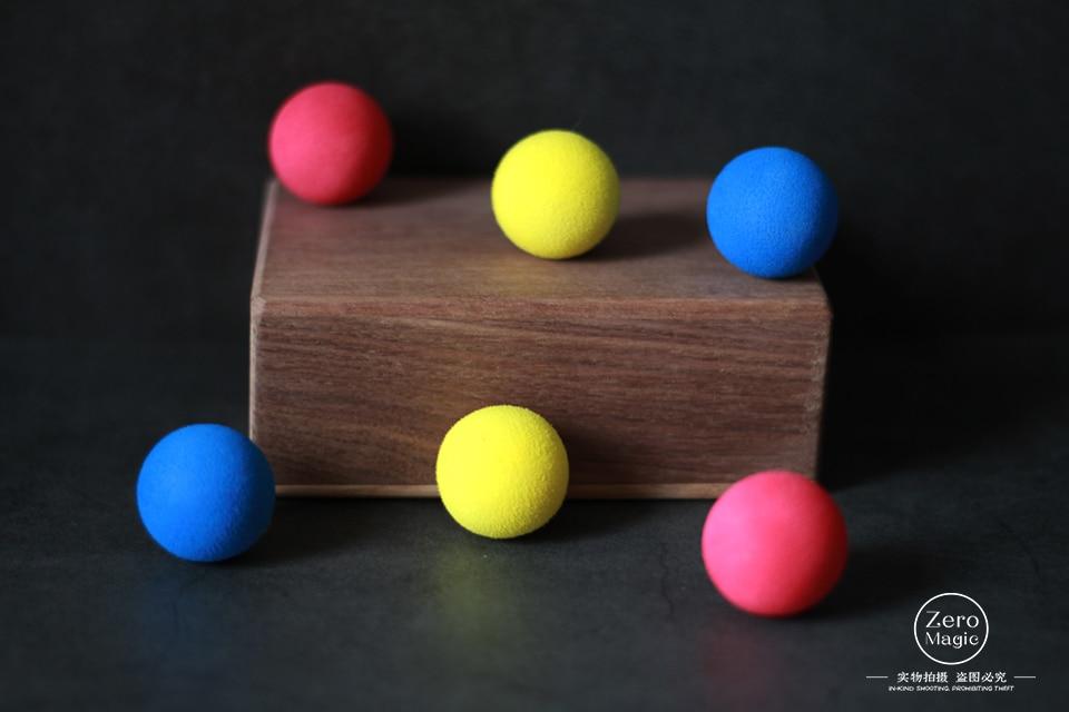 Balls In Box (Deluxe) Magic Tricks 3 Balls Vanish Appear In Empty Box Magia Magician Close Up Illusions Gimmick Prop Mentalism