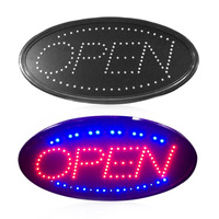 LED Open Sign Advertising Light Shopping Mall Bright Animated Motion Running Neon Business Store Shop with Switch US EU plug