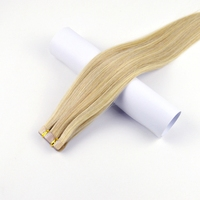 Brazilian Remy Human Hair Skin Weft Tape in Human Hair Extensions 18 20 22 24 20PCS/Set cuticle intact tangle free