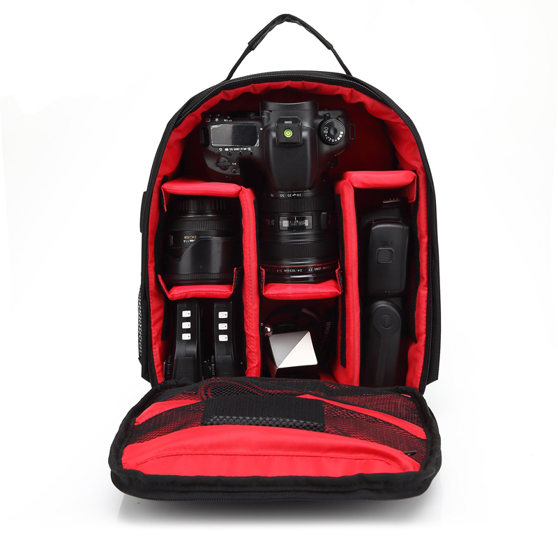 New Red Pattern DSLR Camera Bag Backpack Video Photo Bags for Camera d3200 d3100 d5200 d7100 Small Compact Camera Backpack 2017 new dslr camera bags dslr camera bags waterproof high capacity backpack red black camera cases