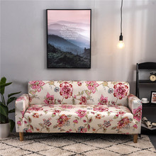 Floral Elastic Sofa Cover Sectional Stretch Slipcovers Living Room Couch Cover L Shape Armchair Cover 1/2/3/4 Seat capa de sofa sofa cover fabric thick sectional sofa towel universal sofa cover l shape slipcovers couch sofa furniture protectors dec