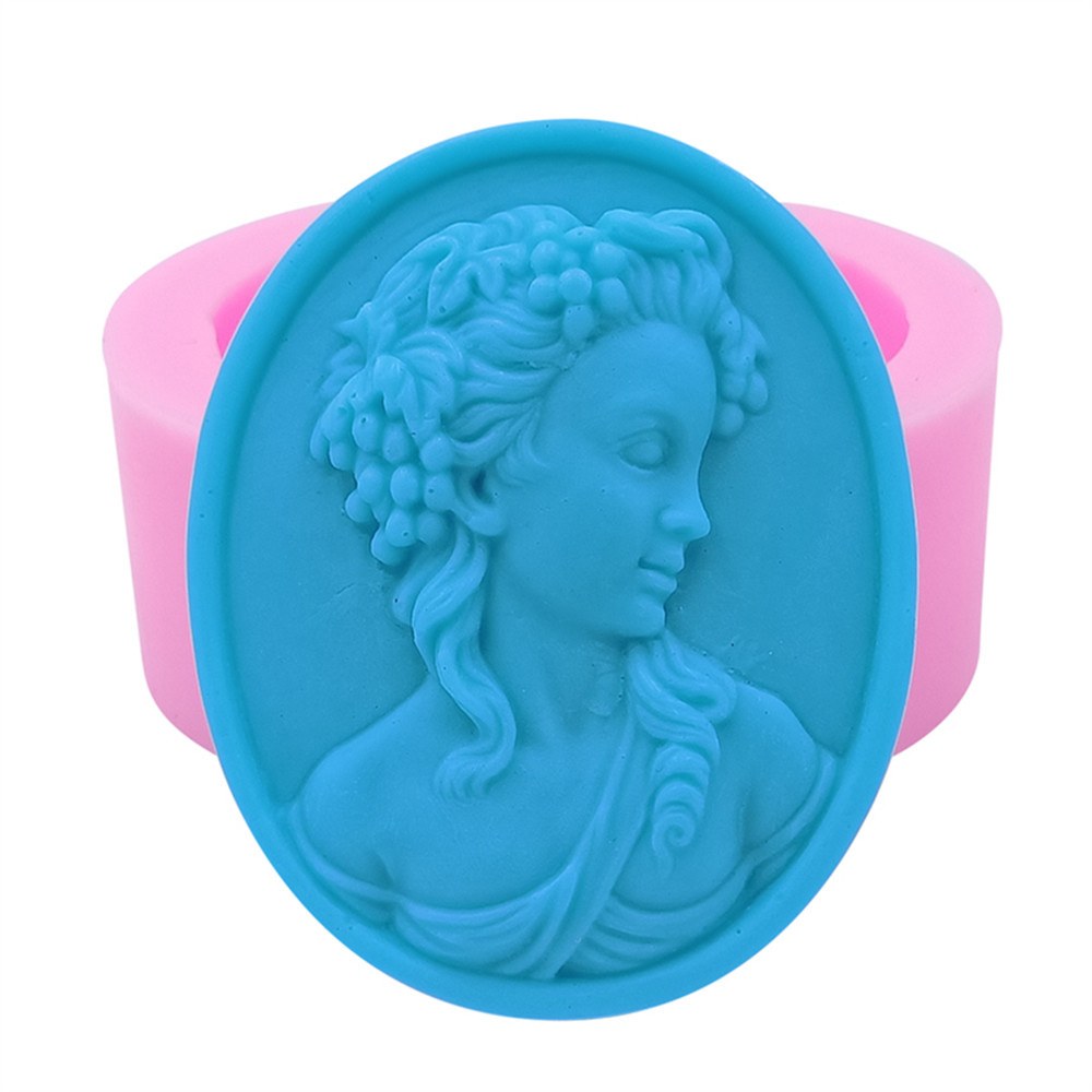 Queen Design Oval Silicone Soap Mold Handmade Silicone Mold for Soap Craft Molds