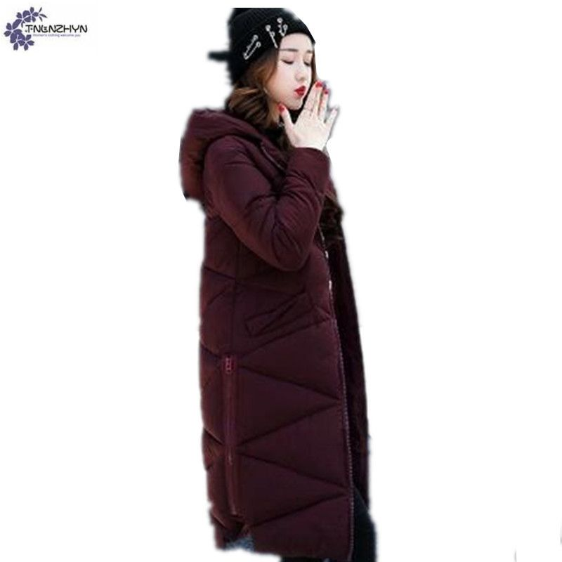 TNLNZHYN Women large size Down jacket cotton coat new winter fashion Long sleeve hooded thicken warm long female Outerwear QQ39 2015 new hot winter thicken warm woman down jacket coat parkas outerwear hooded splice mid long plus size 3xxxl luxury cold