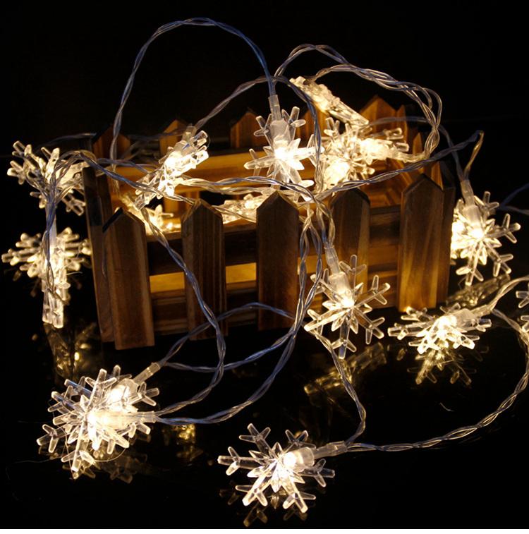 snowflake string lights W1420-02-03