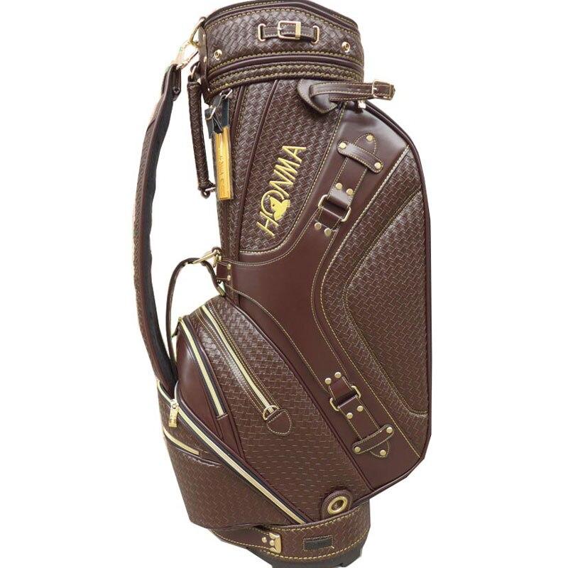 Nouveau sac de Golf Cooyute de haute qualité sac de clubs de Golf en PU au choix 9 pouces paquet de balle Standard HONMA sac de chariot de Golf livraison gratuite