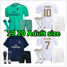9f6cd5be 2019 2020 Real Madrid Adult kit+socks Soccer Jersey home away 3RD Hazard  ISCO 19 20 Football shirt kit size S-2XL