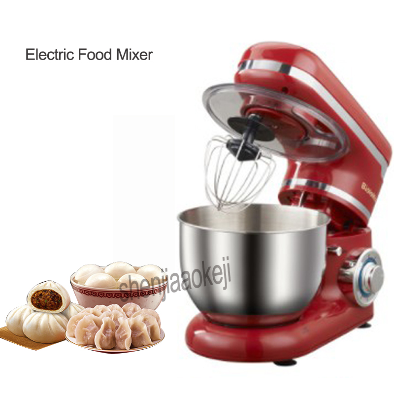 220-240v 4L Stainless Steel 6-speed Household Kitchen Electric Food Stand Mixer Egg Whisk Dough Cream Blender Appliance 1200W