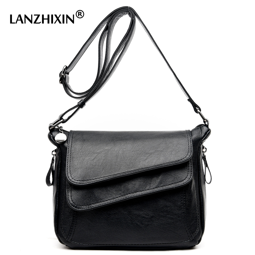 Lanzhixin Women Designer Wild Shoulder Small Flap font b Bags b font Women Leather Retro font
