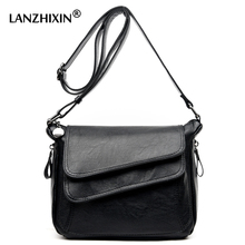 Lanzhixin Women Designer Wild Shoulder Small Flap Bags Women Leather Retro Bags Vintage Crossbody Bags Women Messenger Bags 1039