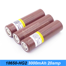 NEW HG2 18650 3000mah 30A font b electronic b font cigarette Rechargeable batteries power high discharge