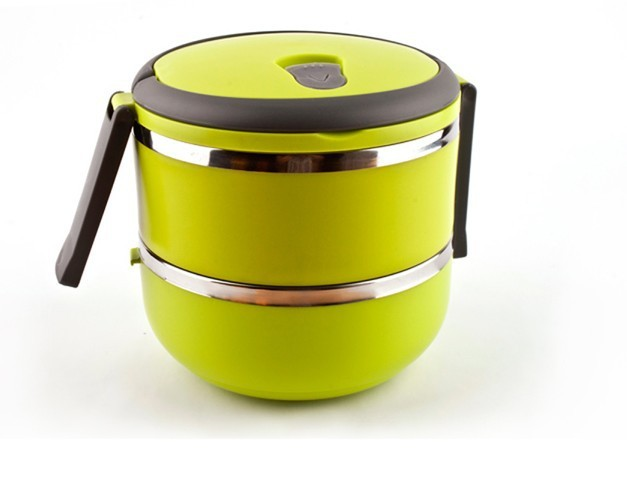 Free Shipping Creative stainless steel double layer heat insulation bucket lunch  box 17d7531a60fb
