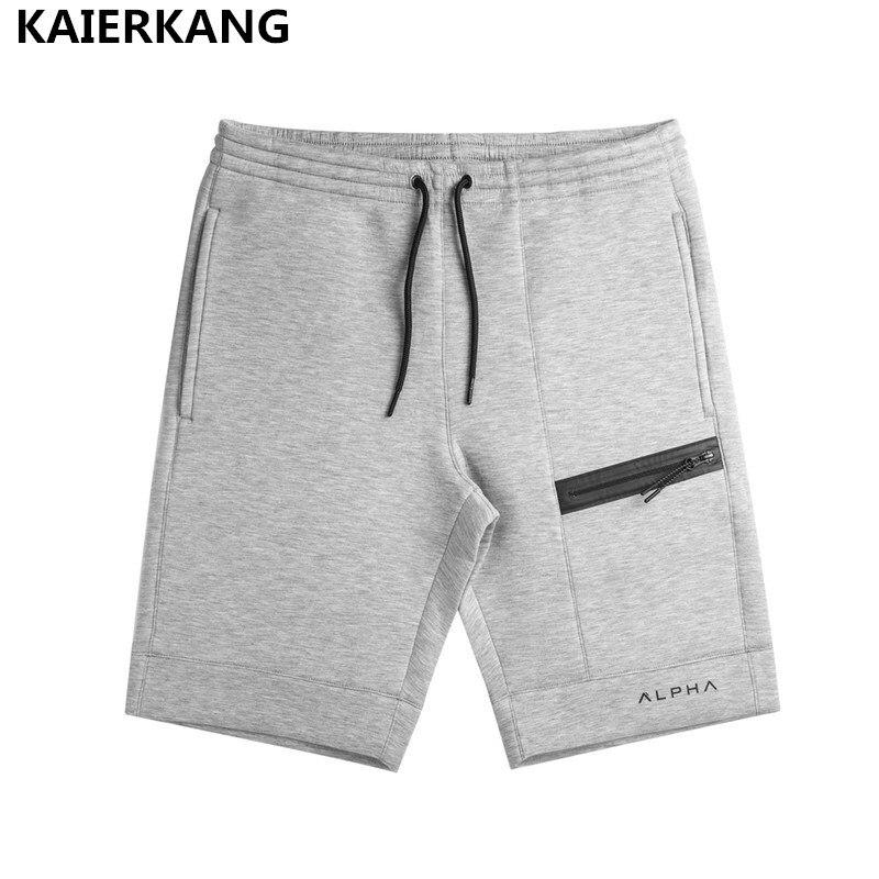 2018 summer new mens fitness shorts Fashion leisure Bodybuilding Workout male Calf-Length short pants Brand Sweatpants