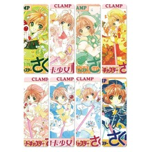 8pcs Card Captor Sakura Anime Bookmarks Waterproof Transparent PVC Plastic Bookmark Beautiful Book Marks Gift silicone phone case fashion sexy marilyn monroe printing for iphone xs xr max x 8 7 6 6s plus 5 5s se phone case matte cover