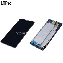 LTPro Black Full LCD Display Touch Screen Digitizer Assembly + Frame / Bezel For Huawei Honor 3C G740 H30-T10 H30-T00 H30-L01