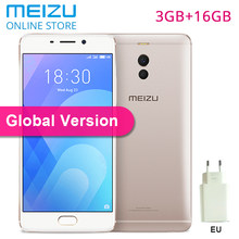 "Meizu M6 Note 3G 16GB ROM M721H Global Version CellPhone Snapdragon 625 5.5"" 1080P Dual Rear Camera 4000mAh Fast Charger Android(China)"