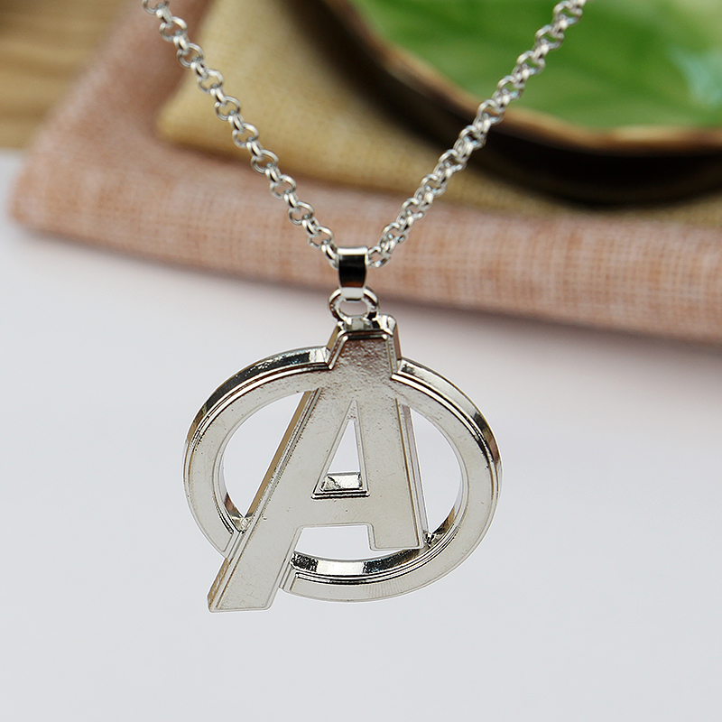 The Avengers Logo A Pendant Necklace For Women Men Sweather Chain Movie Jewelry Gift
