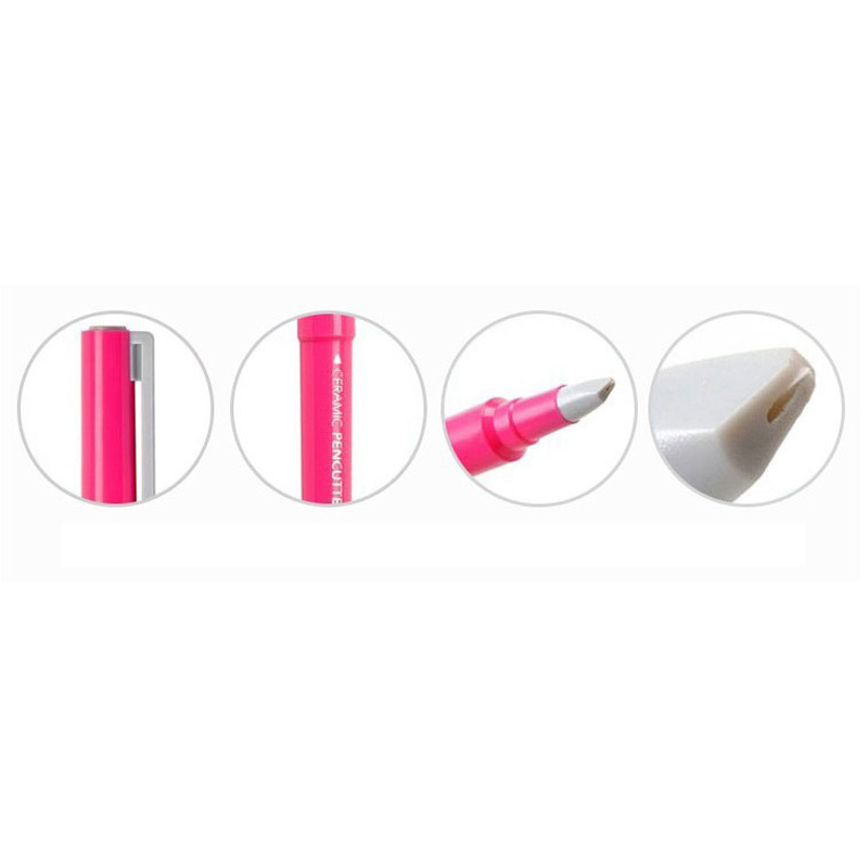 Купить с кэшбэком Japan Ceramic Paper Cutter Pen Knife Wearable Durability Ceramic pen cutter Cutting Paper for crafts Notebook DIY Accessories