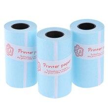 Горячая 3 рулона для печати Рулон Клейкой Бумаги Термобумага самоклеющиеся 57*30 мм