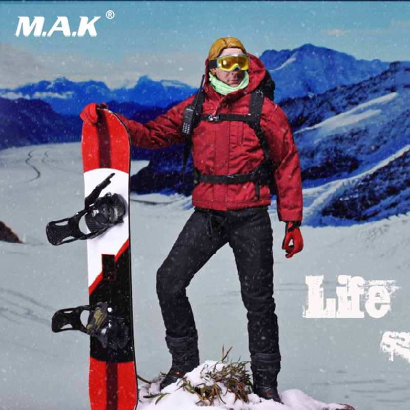 Collectible Full Set Action Figure 1/6 Scale Life of Ice SF-002 Speed Skier with Tech  jacket  head and body full set figrue Collectible Full Set Action Figure 1/6 Scale Life of Ice SF-002 Speed Skier with Tech  jacket  head and body full set figrue