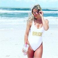 Bride Sexy 2017 One Piece Swimsuit Women Swimwear High Cut Bathing Suit Monokini Party Body Suit
