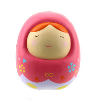 Soft PU Kawaii Cute Dolls Vent Toy Slow Rising Relieve Anxiety Stress Squeeze Toys Phone Straps