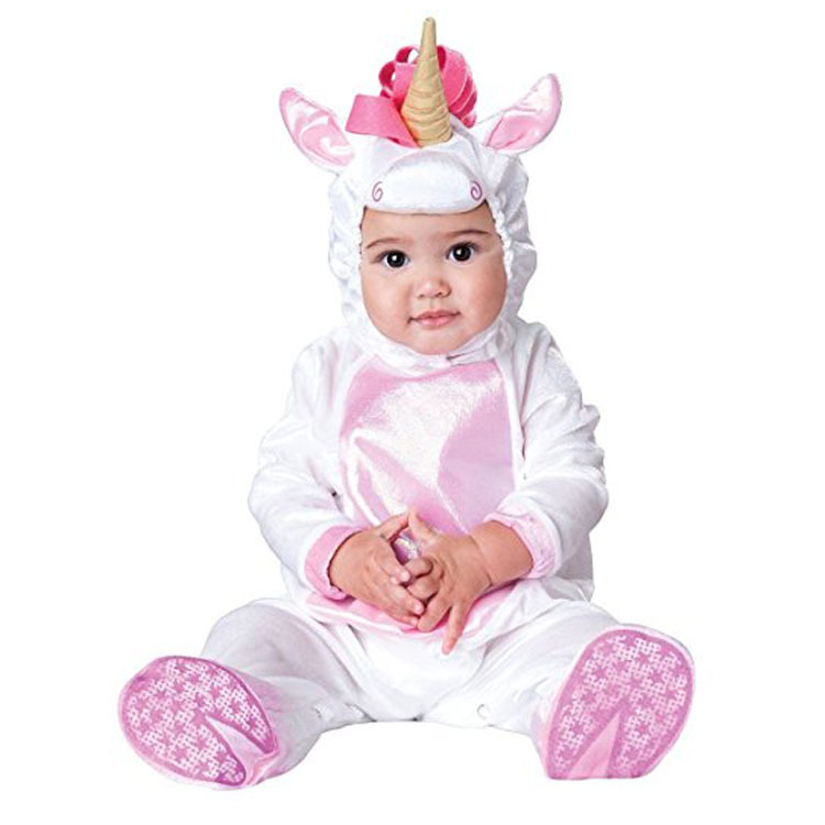 New Baby Halloween Rompers Cute Animal Cosplay Boys Jumpsuits White Horse Baby Girls Costumes Infants Clothes Christmas Gift halloween costumes clown dressed up acting cute nose red