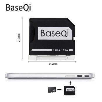 Para Macbook Air 13 ''/Macbook Pro adaptador de tarjeta BASEQI lector de tarjetas MicroSD de aluminio 103A