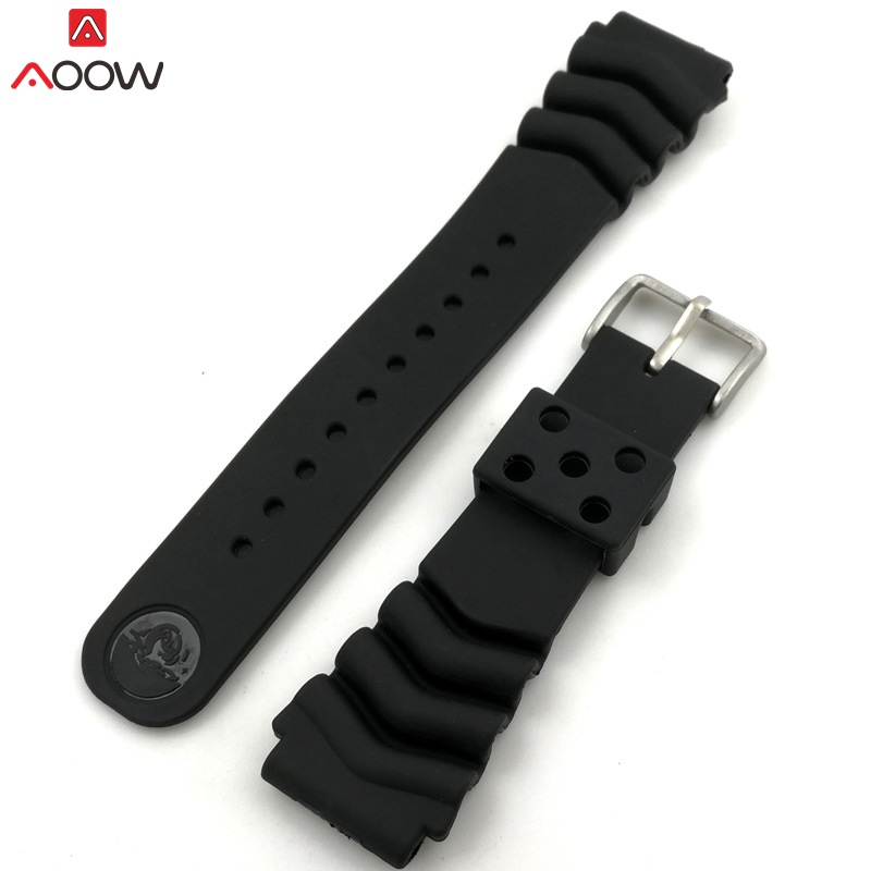 Generic Watchband Silicone Rubber Watch Strap Bands 18mm 20mm 22mm Watches Belt Waterproof Sport Strap for Men Women